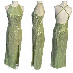Roberta Bridal Light Green Sequin Junior Maxi